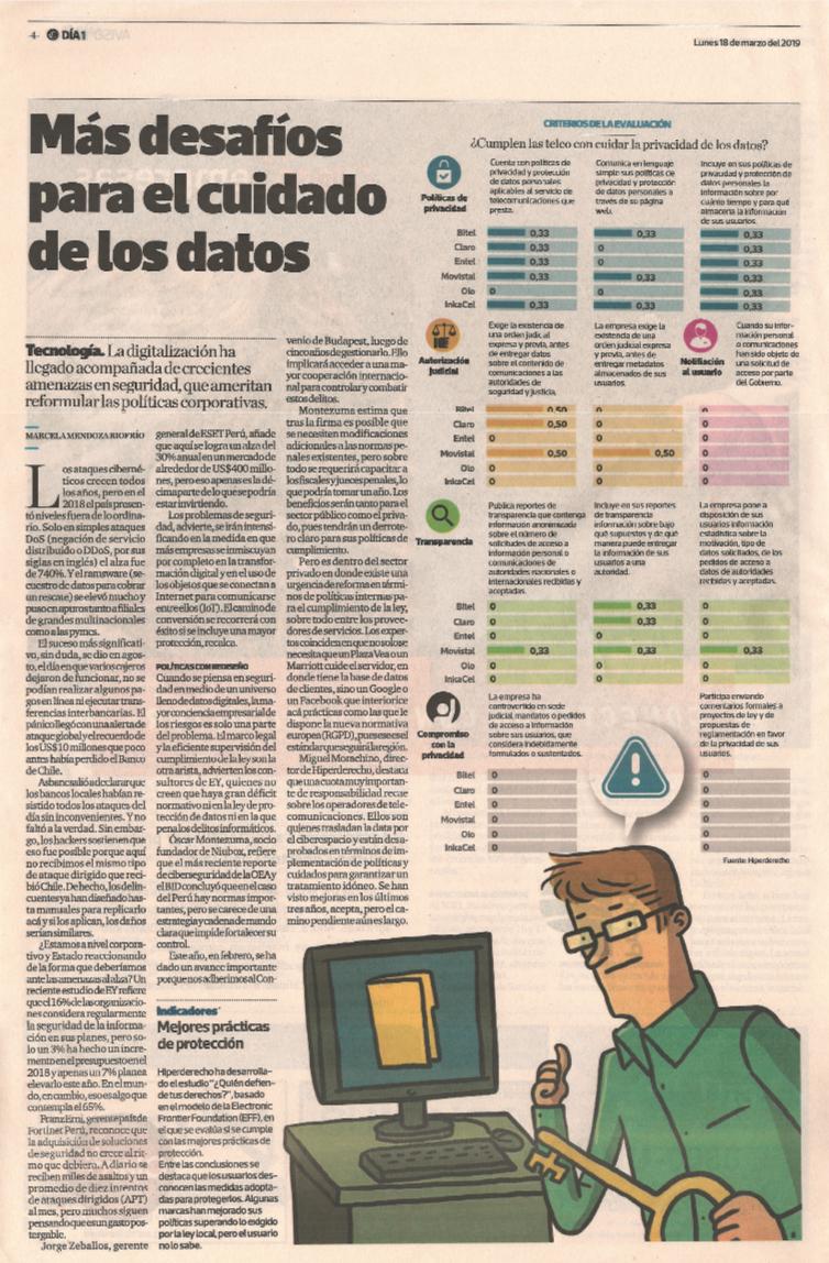 Más desafíos para el cuidado de los datos